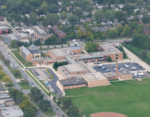 Parcells Aerial View of Building