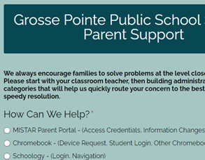 Parent Support Form